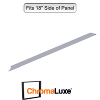 "ChromaLuxe Aluminium Frame Section - 18.75"" - Brushed Silver (476.25mm)"