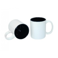 11oz White with Black Inner Colour Sublimation Coffee Mugs Carton of 36