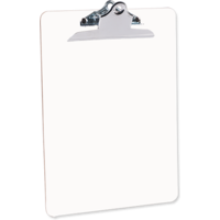 "Unisub 1014 Gloss White Hardboard Clipboard with Raised Clip 9"" x 12.5"""