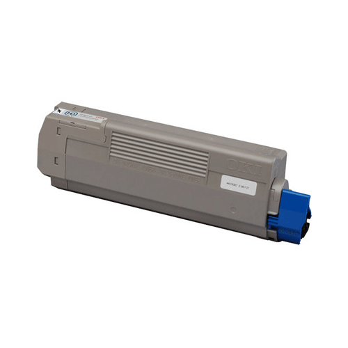 White Toner Cartridge for Oki Pro 7411WT - 6000 Pages ISO