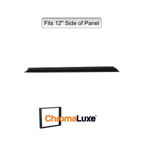 "ChromaLuxe Aluminium Frame Section - 12.75"" - Brushed Black (323.85mm)"