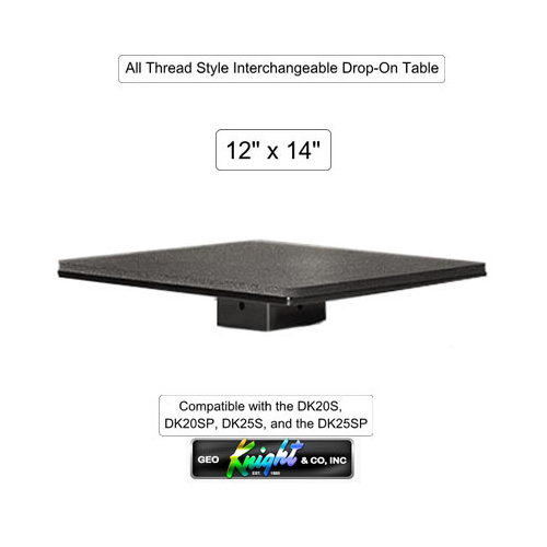 "DK 12"" X 14"" Table - All Thread Style"