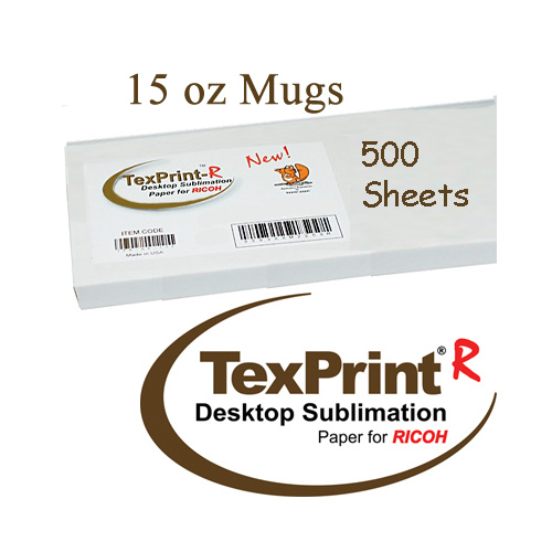 Texprint R 15oz Mug 500 Sheet Pack