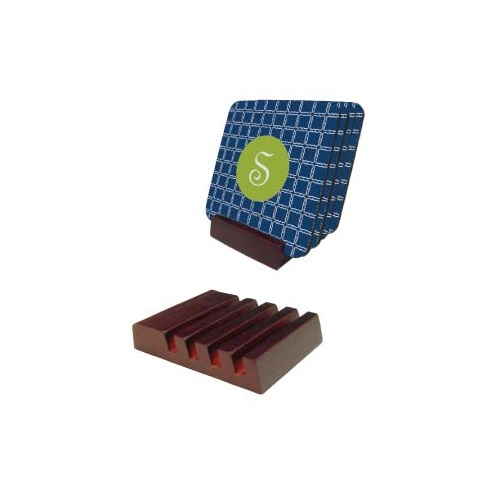 Unisub 5701 Slotted Mahogany Coaster Holder